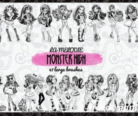 Monster High Coloring book style PS brushes