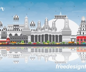 Nagpur city landscape vectors