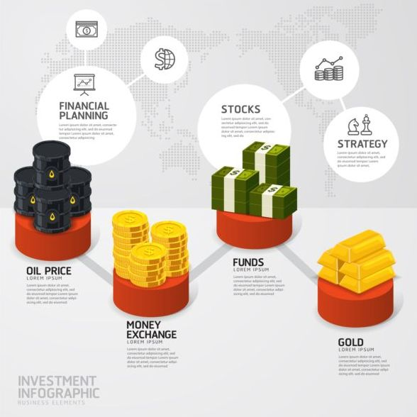 Oil industry template infographics vector 02