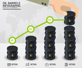 Oil industry template infographics vector 03