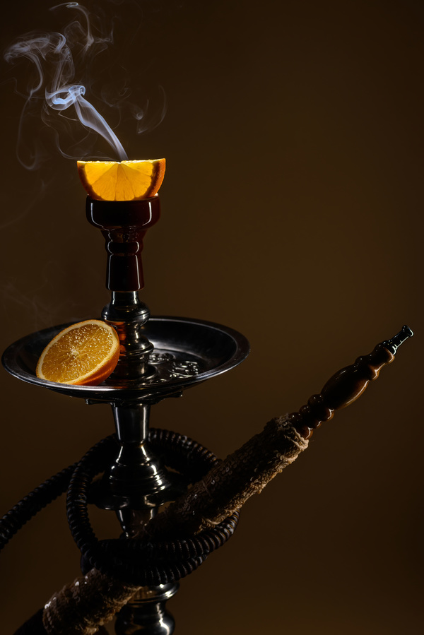 Orange flavor water smoke Stock Photo 02