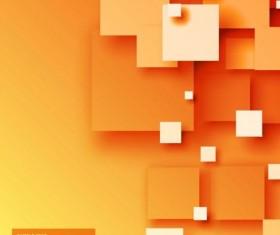 Orange modern abstract background vector