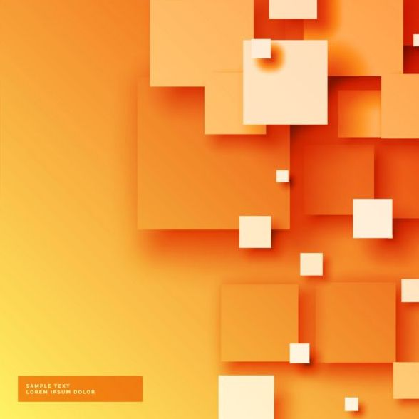 Orange Modern Abstract Background Vector Free Download