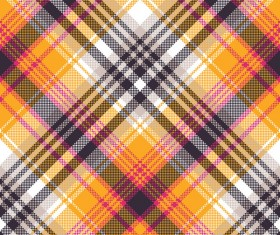 Orange white pixel seamless fabric texture vector