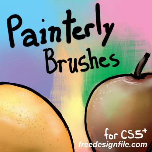 Painterly Photoshop Brushes