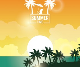 Paradise summer holiday travel poster vector 05