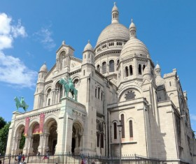 Paris Sacred Heart Dome Cathedral Stock Photo