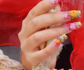 Pattern nail Stock Photo
