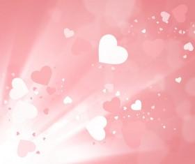 Peach heart romantic background Stock Photo