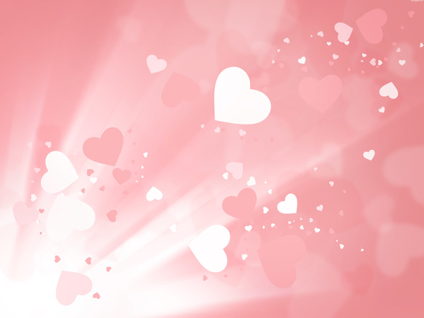 Peach heart romantic background Stock Photo - Backgrounds stock photo free download