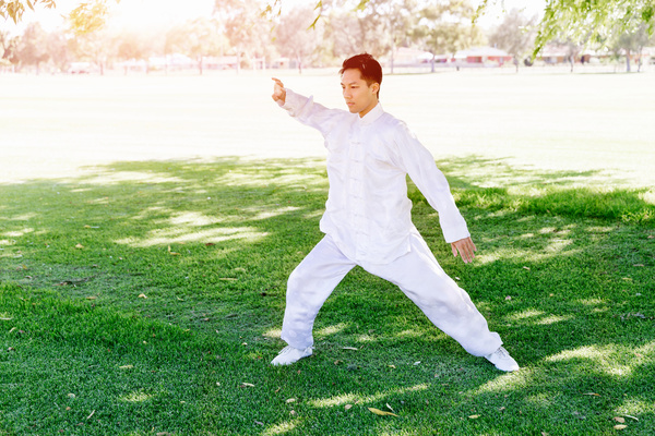 People practicing tai chi in park HD picture 07