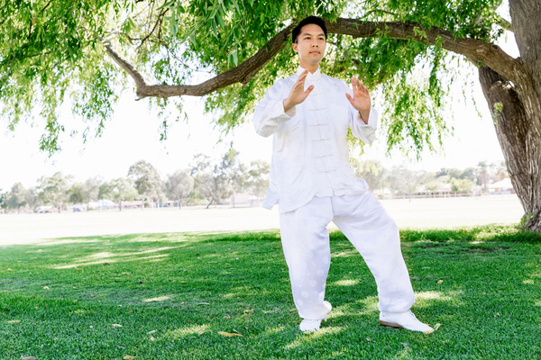 People practicing tai chi in park HD picture 09