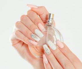 Perfume in hand Stock Photo 01