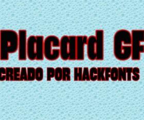 Placard GF font