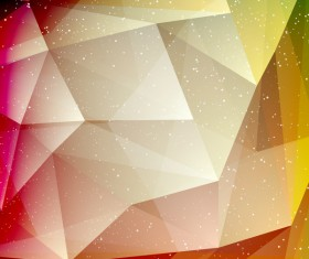 Polygon background with white dots vector