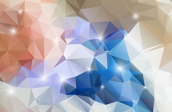 Polygon geometric shape colored vector