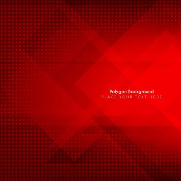 Polygon red background art vector