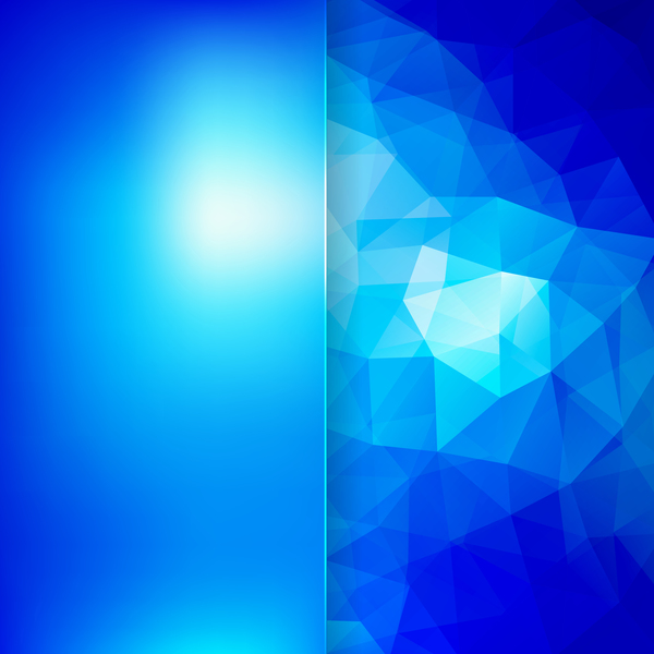 Polygon with blue background vector