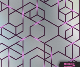 Purple lines with abstract background vector