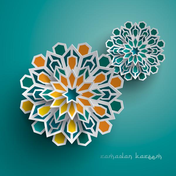 Ramadan background with paper cut flower vector 01 vector ramadan background with paper cut flower vector 01 mightylinksfo Choice Image