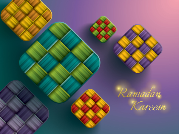 Ramadan ketupat background vector