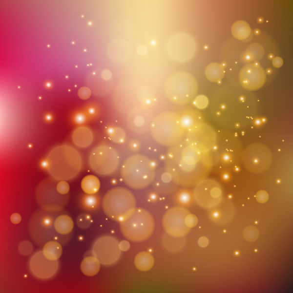 Red and brown bokeh background vector