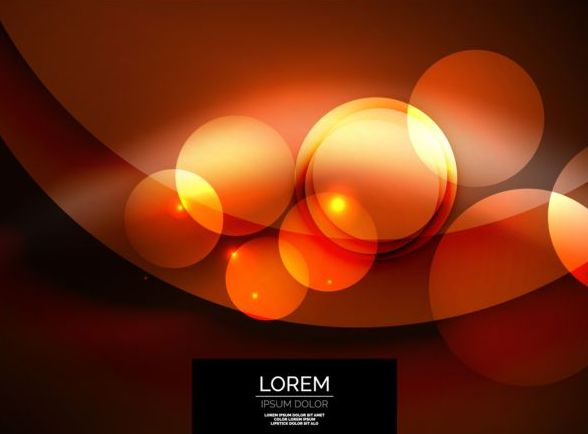Red circles with abstract background vector 03
