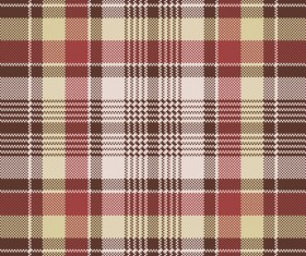 Red plaid seamless fabric texture vector