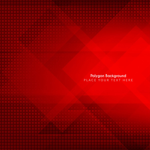 Red polygon background vectors