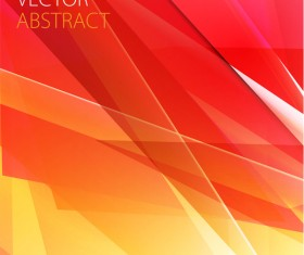Red with yellow abstract background vector