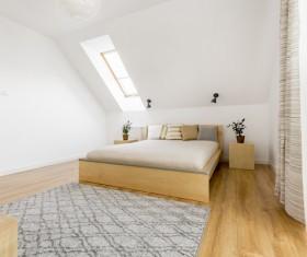 Refined bedroom Stock Photo