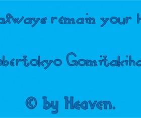Robertokyo Gomitakihara font