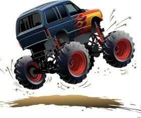 SUV monster cars cartoon vector material 05