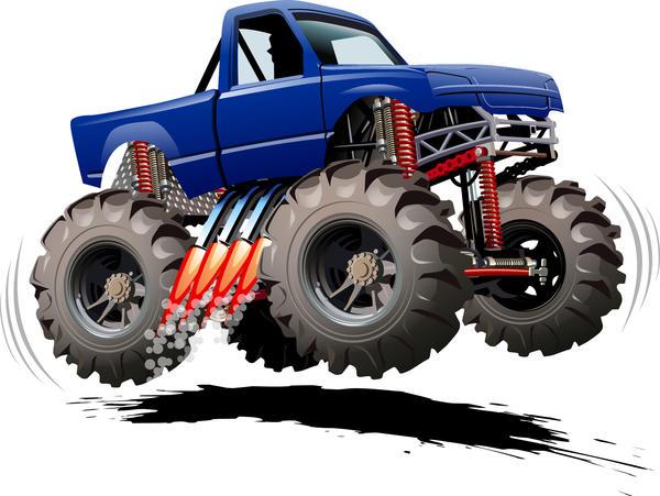 SUV monster cars cartoon vector material 06