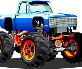 SUV monster cars cartoon vector material 07