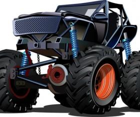 SUV monster cars cartoon vector material 09
