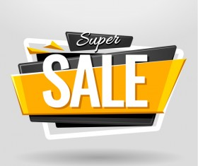 Sale banner vector modern design 01