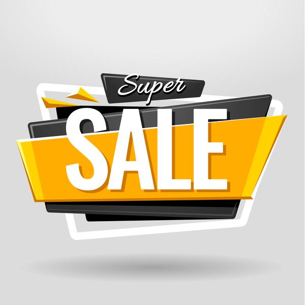 Sale banner vector modern design 01