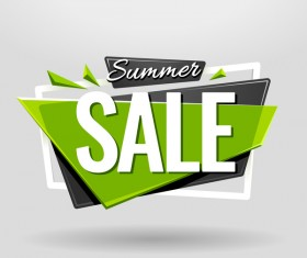 Sale banner vector modern design 02