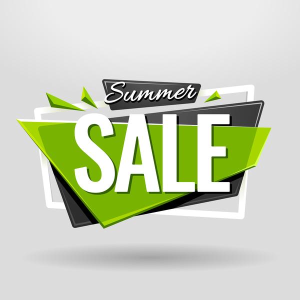 Sale banner vector modern design 02