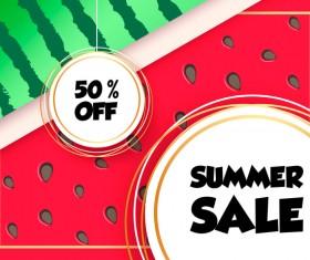 Sales discount summer poster vector 01