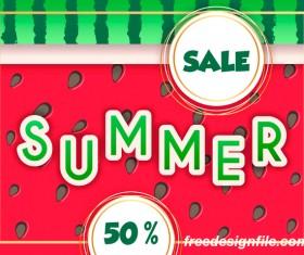 Sales discount summer poster vector 02