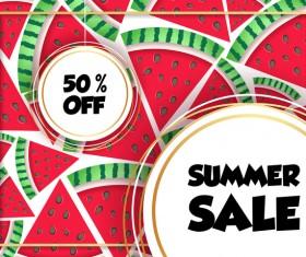 Sales discount summer poster vector 03