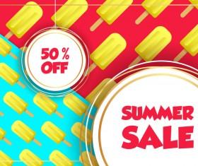 Sales discount summer poster vector 04