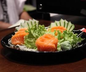 Salmon Vegetable Salad Stock Photo