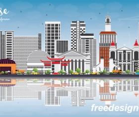 San Jose city landscape vectors