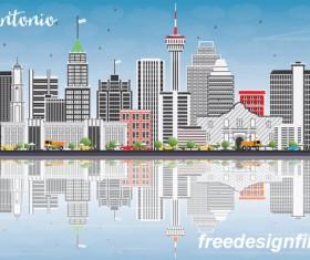 San antonio city landscape vectors