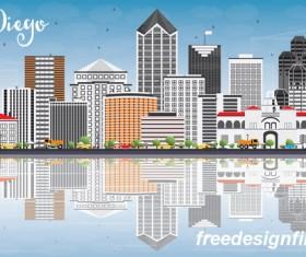 San diego city landscape vectors