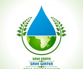 Save environment design vector material 02