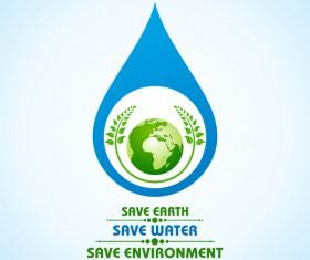 Save environment design vector material 03